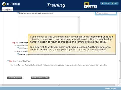 My Humber: How to Apply for Student Aid