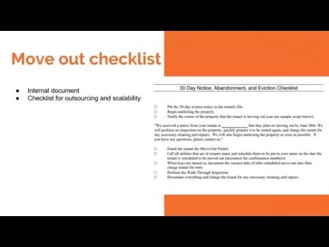 How to use a move-out checklist after a tenant vacates a rental property