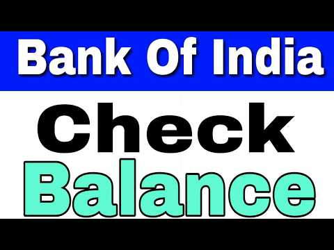 How to Check Balance Bank Of India by SMS And Missed Call From Home