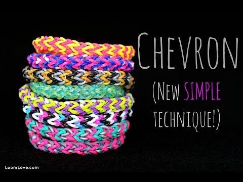 How to Make the Rainbow Loom Chevron (New SIMPLE technique!)