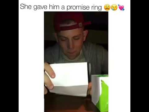 She gave him a promise ring ❤😥😱