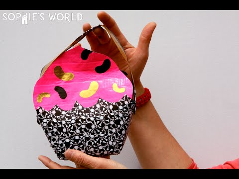 How to Make a Duct Tape Cupcake Bag | Sophie's World