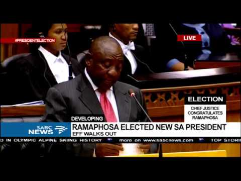 Newly elected President Cyril Ramaphosa's acceptance speech