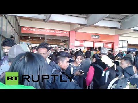Nepal: Kathmandu airport in chaos following earthquake