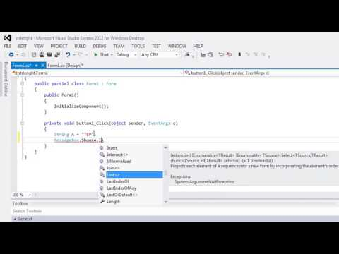 080 - How to use C# string Length