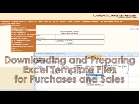 How to Prepare Purchases and Sales to upload - AP Commercial Tax