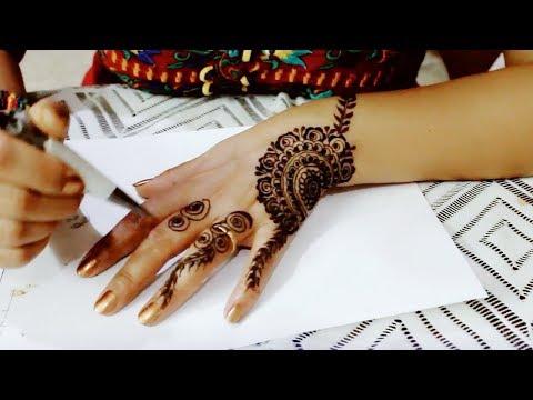 Easy Beautiful Font Mehendi Design