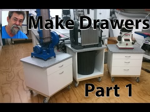 How to make melamine drawers. Dave Stanton easy woodworking