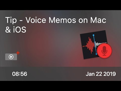 SCOM0806 - Tip - Voice Memos on Mac & iOS