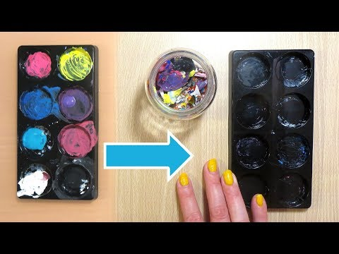 How to Clean an Acrylic Paint Palette