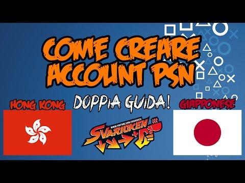 [GUIDA]COME CREARE ACCOUNT PSN GIAPPONESE E HONG KONG! (PS4)