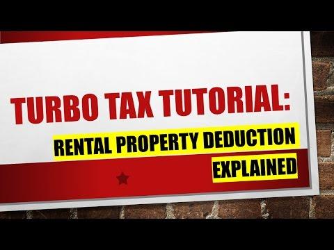 Explaining Turbo Tax:  Rental Property Expenses Deduction