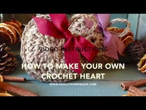 How to Make Your Own Crocheted Orange Filled Heart