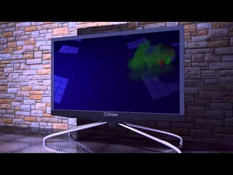 CJVision LED TV in Cinema 4D