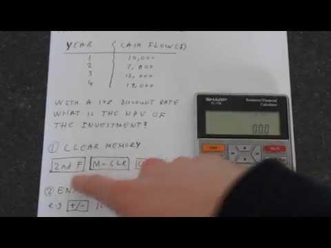 Sharp EL-738: Net Present Value (NPV)