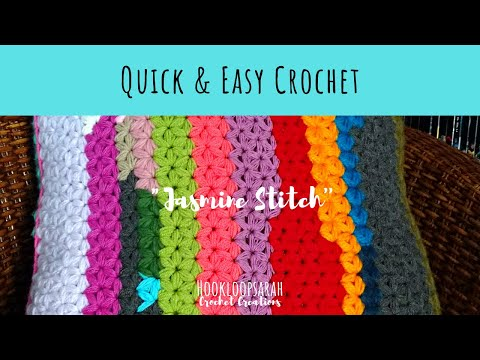 QUICK AND EASY CROCHET: Jasmine star stitch