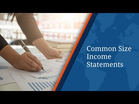 Learn About Common Size Income Statements
