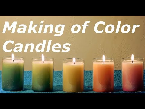 How To Make Different Kinds of Color Candles at Home