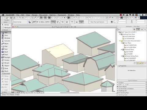 ArchiCAD Tutorial | Roof Modeling in ArchiCAD 15 and above