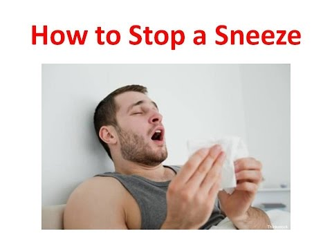 How to Stop Sneezing and Runny Nose