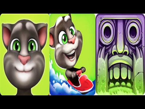 My Talking Tom Vs Talking Tom Jetski with Temple Run 2-Gameplay make for Kid #50