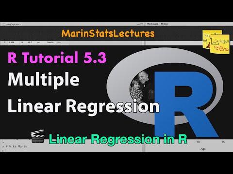 Multiple Linear Regression in R (R Tutorial 5.3)