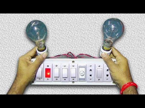 How To Make An Room Wiring Board/ Extension Board/ Parallel Connection Circuit
