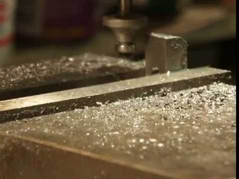 Fly cutting a radius on mild steel using a TC wood router bit