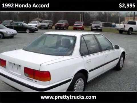 1992 Honda Accord Used Cars Monroe NC