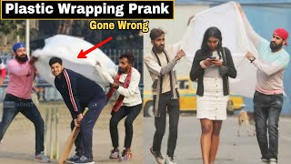 PLASTIC WRAPPING PEOPLE PRANK - GONE WRONG   Pranks In India 2021   By TCI
