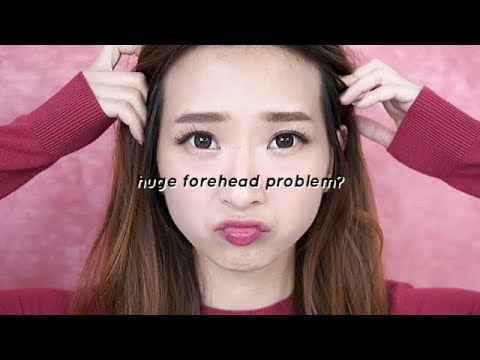 How to make HUGE FOREHEAD SMALLER ( Hairline Contouring )