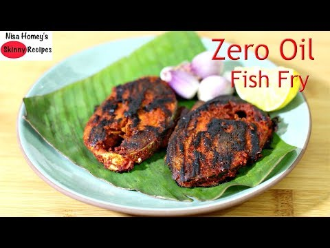Fish Fry Without Oil - How To Fry Fish Without Oil - Zero Oil High Protein Tasty Indian Fish Roast