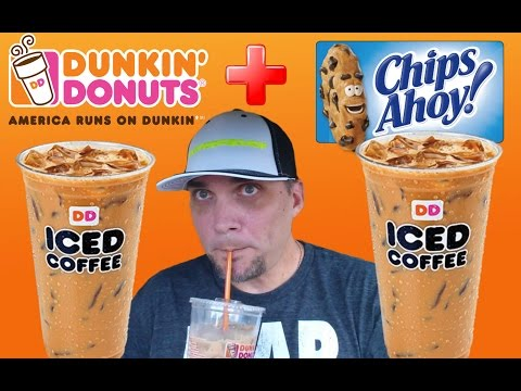 DUNKIN' DONUTS NEW CHIPS AHOY! ICED COFFEE REVIEW # 136