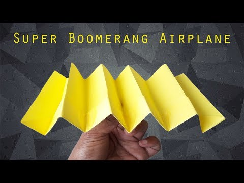 Super Boomerang Airplane || Airplane || Unique Paper Plane Origami || OP Toys