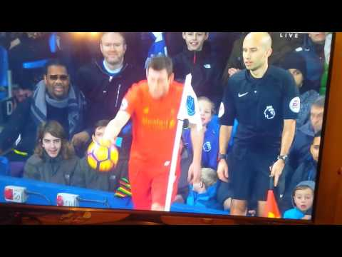 Fatman scoop at the everton liverpool Merseyside derby lol