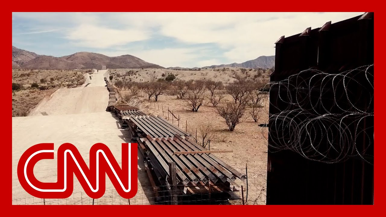Work has stopped on Trump's border wall. See how it looks now