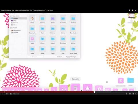 How to: Change Mac Icons without Candybar :Yosemite/Mavericks )