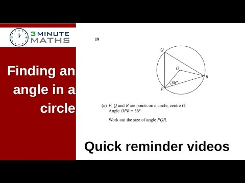 How to find the missing angle in a circle - GCSE question level 4
