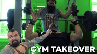 WORLDS STRONGEST MEN TAKE OVER PUBLIC GYM