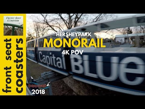 Hersheypark Monorail 4K POV 2018 Springtime In The Park On Ride Park Tour