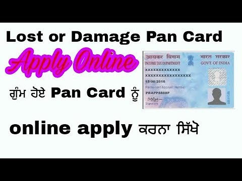 How to Apply for Lost or Damaged Pan Card - Get Duplicate Pan Card for Lost Pan card in PUNJABI