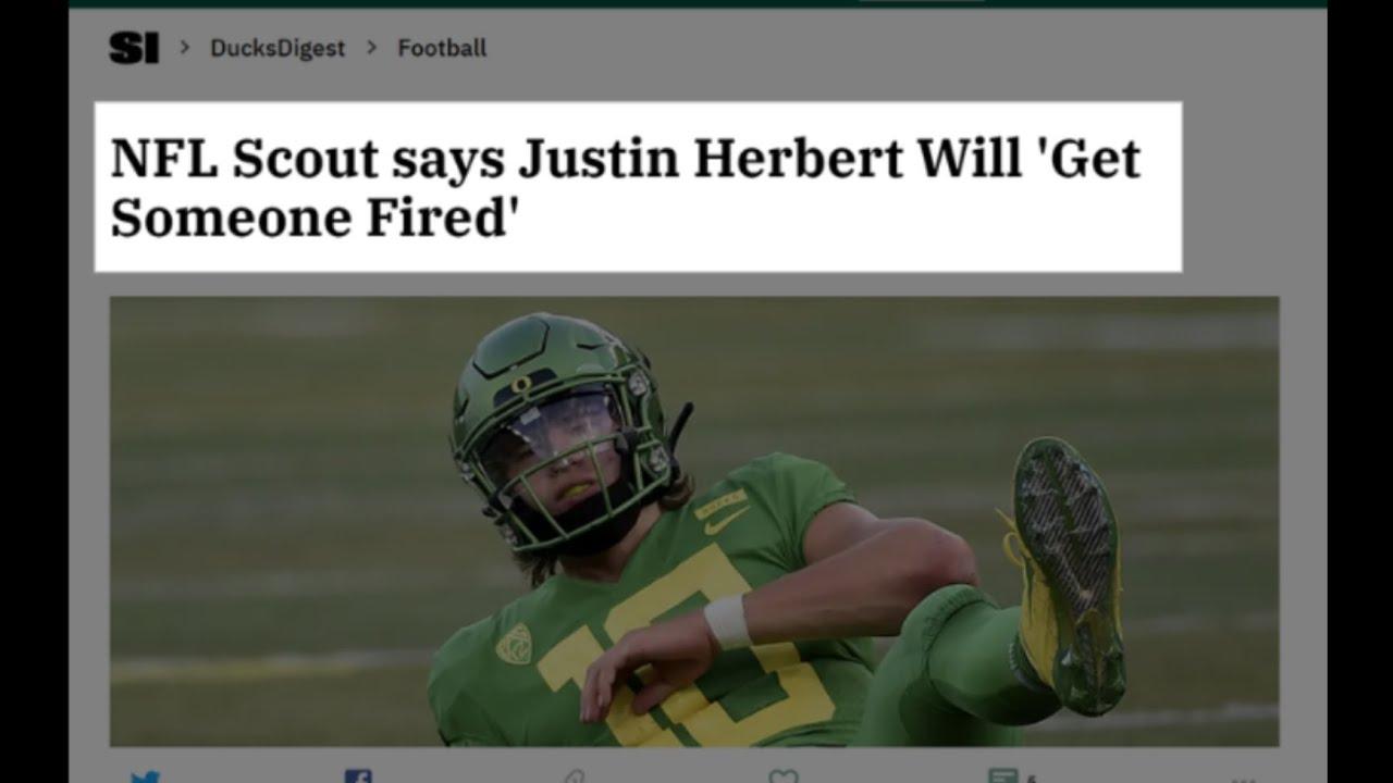 Justin Herbert Pre-Draft COLLLLD takes
