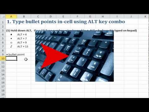 Excel Quick Tip: In-cell bullet points in Excel (1 of 5)