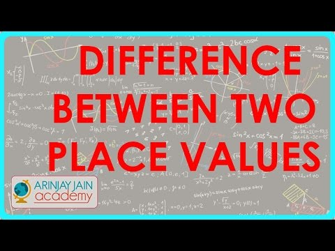 37. Finding out difference between two Place values