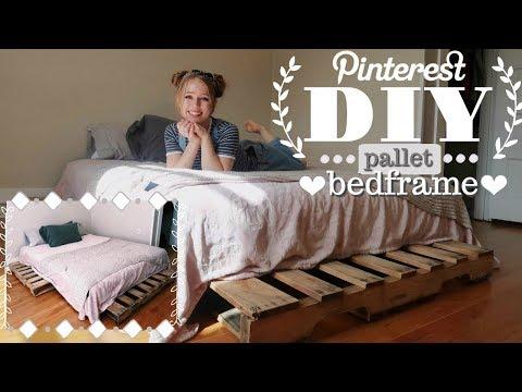 DIY Pinterest Pallet Bed Frame (Quick & Easy!)