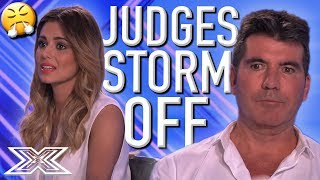 Judges WALK OUT Of Audition Room Because Act Can't Take NO For An Answer   X Factor Global