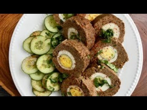 Baked Egg Kabob Roll in Gujarati with Raihana's Cuisines