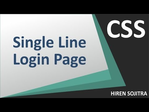 Single Line Login Page(HTML,CSS)#2(by Hiren Sojitra)