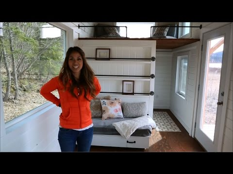 How to Build a Loft Bed Triple Bunk Bedroom: Ana White Tiny House Build [Episode 11]
