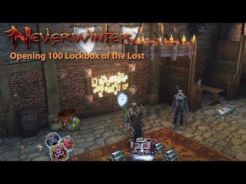 Neverwinter: Opening 100 Lockbox of  the Lost